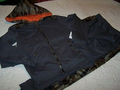 Boys~Size 6/7~Gray/Camo Outfit, Pant & Hoodie/Jacket~$General~NWT~B/G56