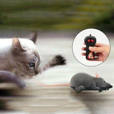 AU Wireless Remote Control Electronic Rat Mouse Mice Toy For Cat Puppy Pranks