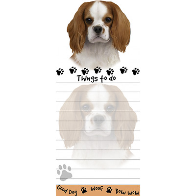 Cavalier King Charles Spaniel Magnetic Post It Dog Breed Stationery Notepad
