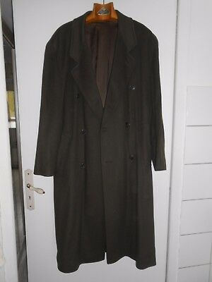 MANTEAU  HUGO BOSS LAINE & CACHEMIRE Taille 52 Made in Italy tissu Italie