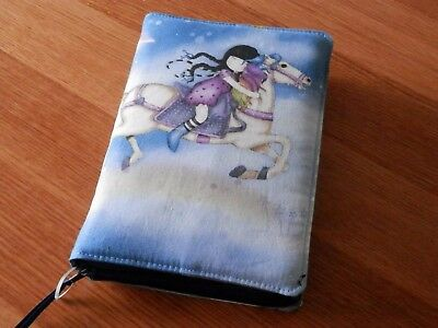 New World Translation 2013 Zipped Fabric Bible Cover - Horses & rainbows