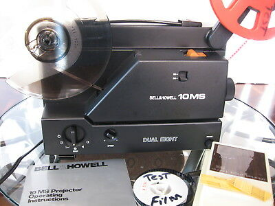 Reg 8mm/Super 8 Vari-Spd   Projector  Rebuilt Film Tested!