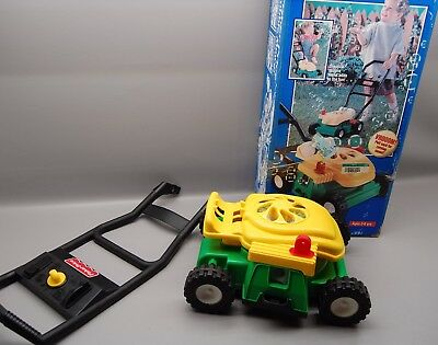 Vintage 1997 Fisher Price Bubble Lawn Mower With Box Green And