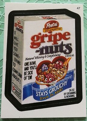 Wacky Packages Topps Card All New Series 3 Postal Gripe Nuts Stays Grouchy #47