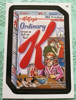 Wacky Packages Topps Card All New Series 3 Killjoys Ordinary K Dull As You #46