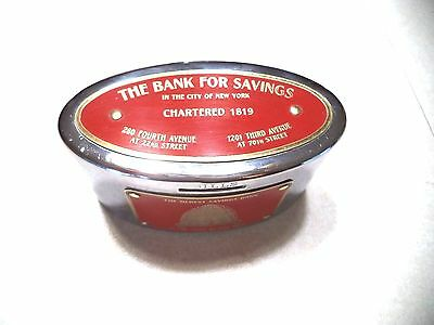 Earl Clearvue Recording Bank W/ Key The Bank For Savings New York City  Vintage