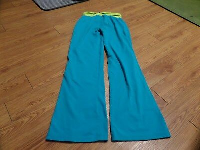 euc-Nike Dri Fit Girls Youth Size Large  12-13y-blue/teal/yellowish
