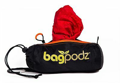 BagPodz - Reusable Grocery Bag and Storage System Cayenne Red (contains 10)