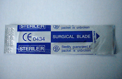 One Scalpel blade #11 for surgical dental medical veterinary arts and crafts