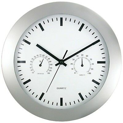 "TIMEKEEPER 6989 12"" Round Wall Clock & Weather Station"