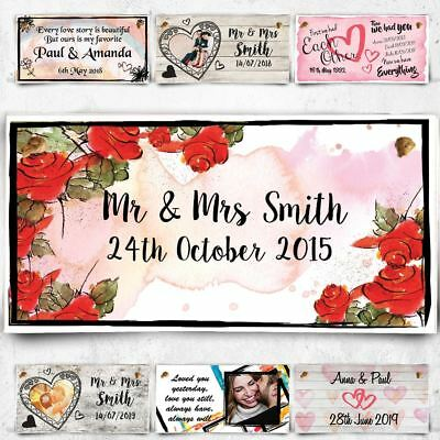 Personalised wooden plaque customised sign him her anniversary christmas gift