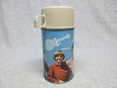 1967 The MONKEES Original Tin Litho THERMOS C#7.5 TV  Rock & Roll  Pop Music