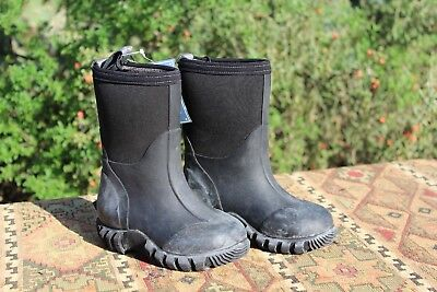 Boys Black Rubber Rain Boots Size  5 9 Toddler Water Mud Kids Shoes