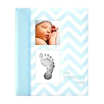Pearhead Chevron Baby Memory Book with an Included Clean-Touch Ink Pad to Creat