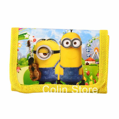 New Cute Despicable Me Minions Trifold Wallet Boys Girls Kids Party