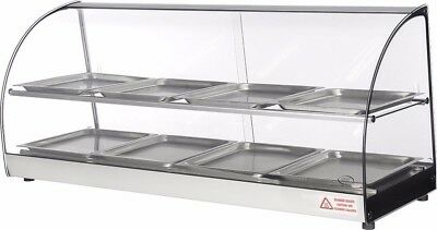 "Commercial Counter top glass display food, empanada, patty warmer 44"" inches"
