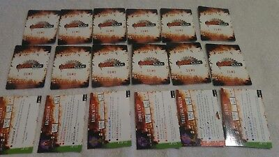 2006 Horrorclix demo game cards by Wizkids 18 count in played with condition.