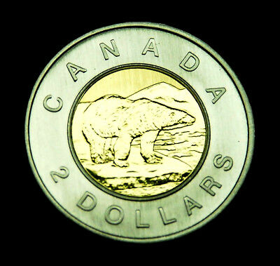 "2003 $2 specimen ""toonie"" - shows brilliantly, and is fully BU"