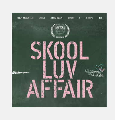 BTS 2nd Mini Album [SKOOL LUV AFFAIR] CD & Photo card & 115 Pages Booklet