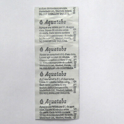 WATER PURIFICATION TABLETS 17mg - 60 Pack - W.H.O/UNICEF/RED CROSS Issue