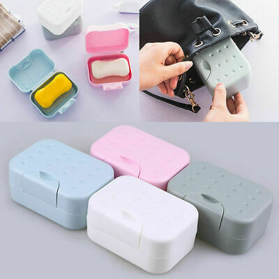 Portable Travel Washing Soap Box with Lid Seal Leak-proof Dish Case Container