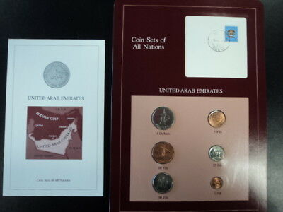 Coin Sets of All Nations UAE United Arab Emirates W/ Info Card UNC NO RESERVE
