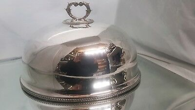 An antique silver plated cloche by creswick & co.sheffield