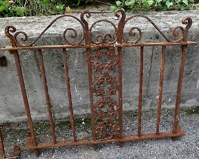 Vintage American-made Wrought Iron Outdoor Garden Fencing