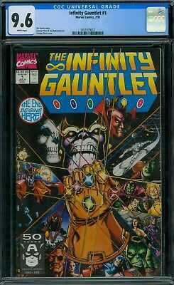 Infinity Gauntlet 1 CGC 9.6 - White Pages