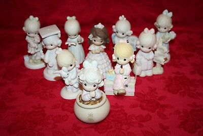 Precious Moments Collection of 10 Girl Figurines (Lot 1)