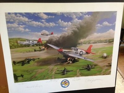 Tuskegee Airman Art  Signed (4) Prints by General  Ben Davis & 25 Other Airman