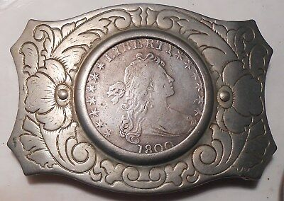 Silver Draped Bust Dollar Belt Buckle