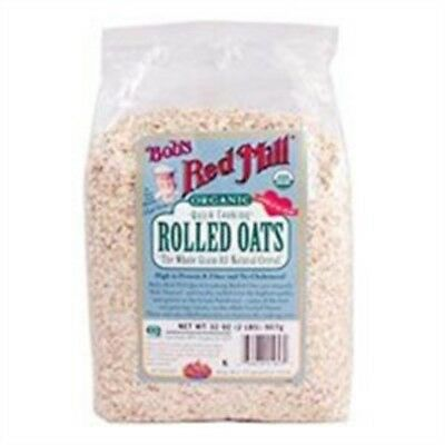 Bobs Red Mill Rolled Oats, Whole Grain, Quick Cooking, Organic 32 OZ
