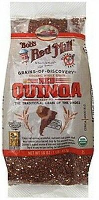 Bobs Red Mill Organic Whole Grain Red Quinoa Gluten Free - 16 OZ (Pack 4)