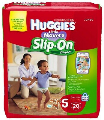 Huggies Little Movers Slip-On Diapers - 20 CT (Pack 4)