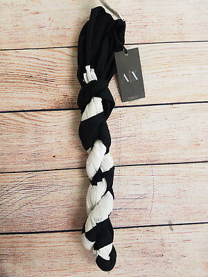 Armani Exchange Womens Striped Floral Scarf NWT Authentic One Size