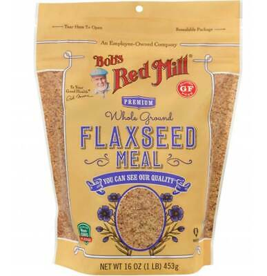 Bobs Red Mill Flaxseed Meal Whole Ground Premium - 16 Oz - Pack of 4