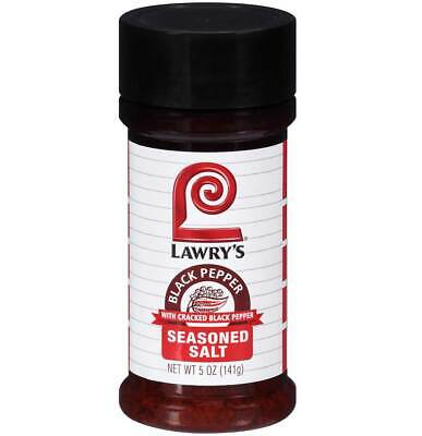 Lawrys Black Pepper Seasoned Salt Seasoning - 5 Oz - Pack of 4