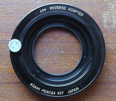 Pentax 67 / 6x7 Reverse Adapter 49mm TOP!!! Umkehrring ORIGINAL
