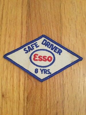 """Vintage Esso Oil Safe Driver 8 Years Patch 5"""" X 3"""""""