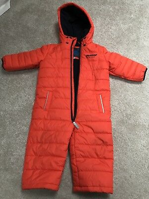 Baby All In One Coat Waterproof Warm Snowsuit Marks & Spencer 12-18 Months