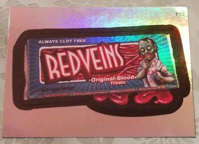 Wacky Packages Topps Card All New Series 3 Special Rainbow Foil Redveins F10