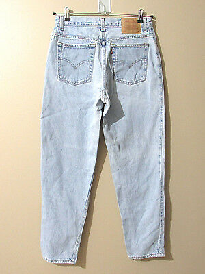 Vintage Levi's 550 Relaxed Fit Tapered Leg 13 Jr M Denim Jeans High Waisted Mom