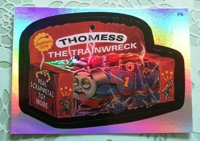 Wacky Packages Topps Card New Series 3 Special Rainbow Foil Thomess The Train F5