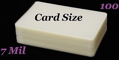 Ultra Clear Laminating Pouches Card Size {100} (7 Mil) (2-3/4 x 4-1/2)