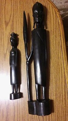 african wood art 3 pieces 1960,s