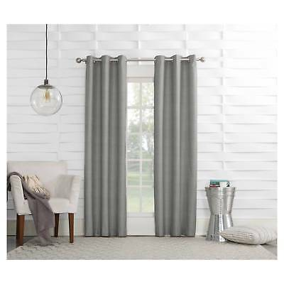 Haverhill Linen Texture Thermal Insulated Energy Efficient Grommet Curtain Pa...