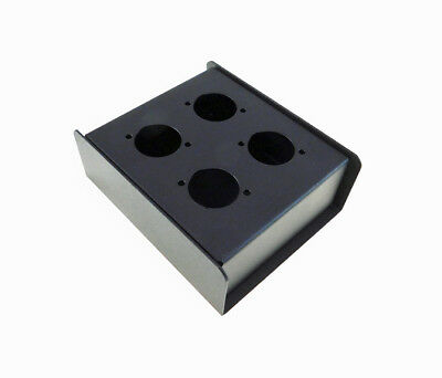 """Steel Project  Box  4-1//2/"""" x 4-11//16/"""" x 1-5//8/"""" Pre-Punched for 4 /""""D/"""" Series XLR"""