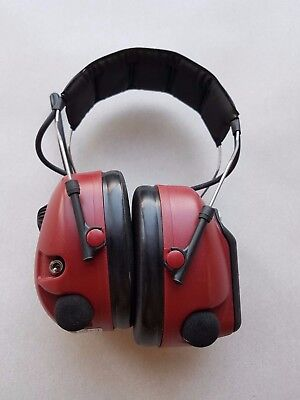 3M Peltor Alert Radio Headset M2RX7A2-01 FM AM Hearing Protection Headband Used