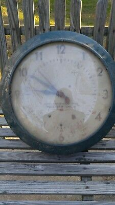 "Self Winding Clock Co. Western Union ""Naval Observatory Time"" Gallery Wall Clock"